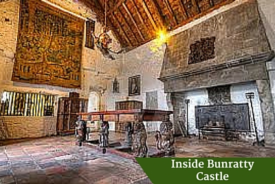 Inside Bunratty Castle | Private Driver Tours of Ireland