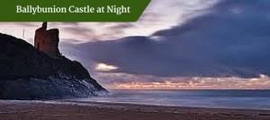 Ballybunion Castle at Night | Deluxe Tours Ireland