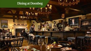 dining at doonbeg | luxury golf tours Ireland
