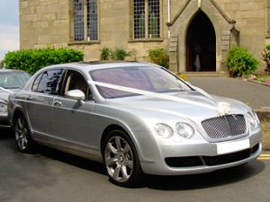 Silver Bentley Flying Spur | Weddings Ireland