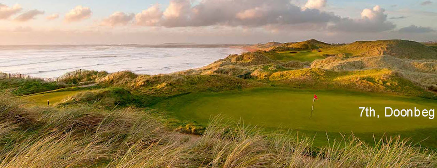 Take a Golf tour with ExecutiveTours and visit this 7th Hole at Doonbeg