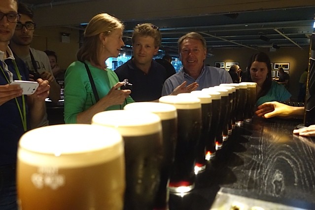 Mike Ryan at the Guinness Storehouse with guests | Chauffeur Tours Ireland