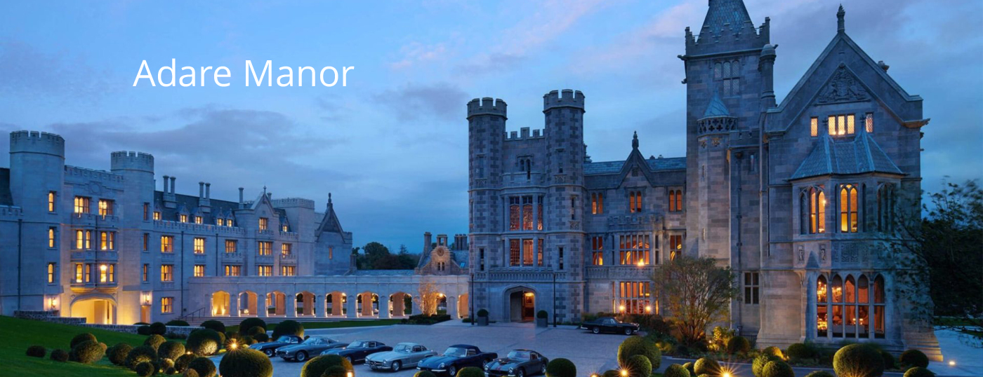 Adare Manor Exterior view in the Evening Time