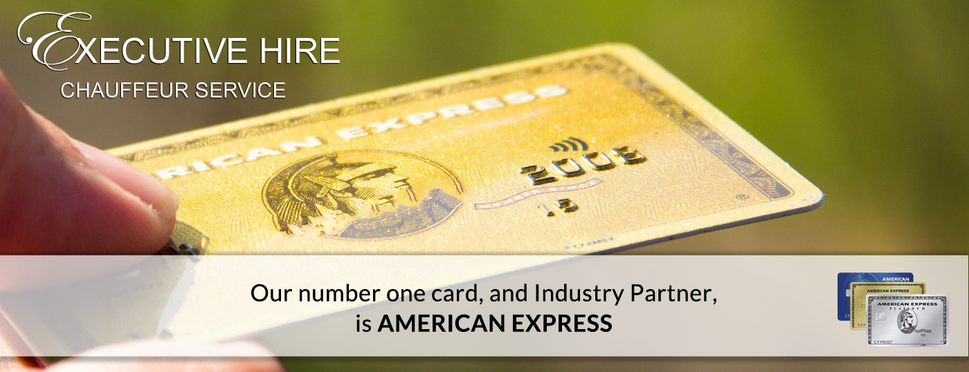 AmericanExpress Card, accepted by ExecutiveTours