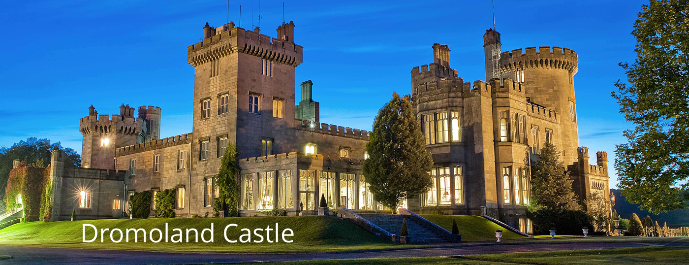 View of Dromoland Castle at night