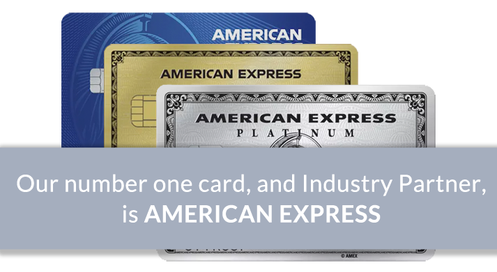 Our Number 1 card and Industry Partner is American Express