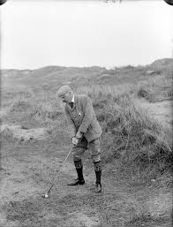 Ireland Golf Tours | Man golfing, old photo