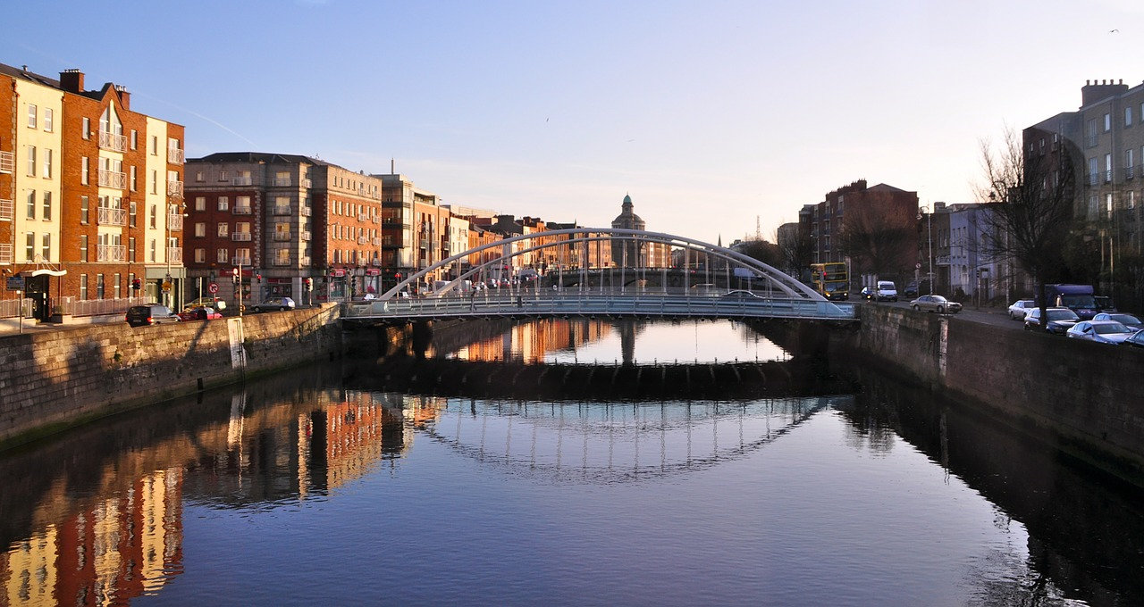 James Joyce bridge Dublin | luxury family vacations Ireland