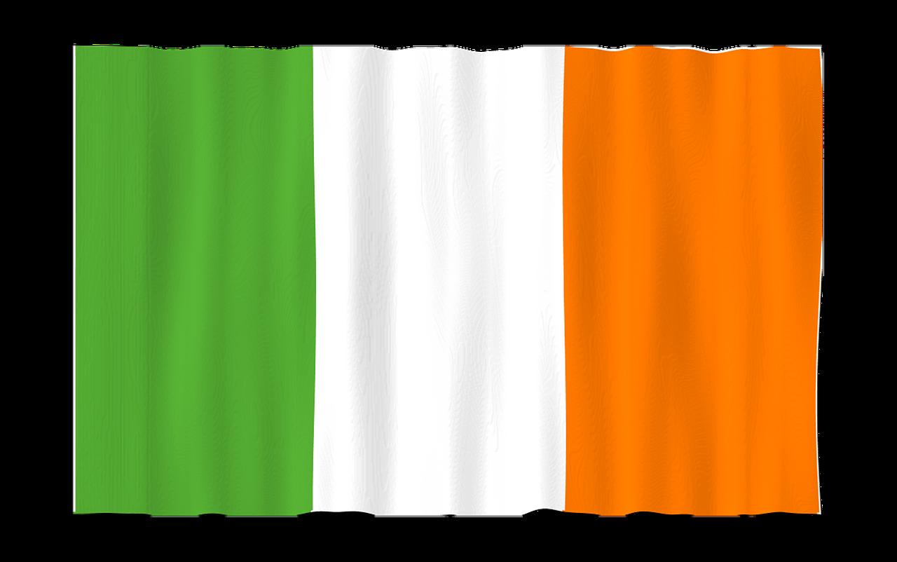 The Irish tri-colour flag | family vacations Ireland