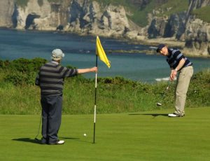 Golfers on Royal portrush Course