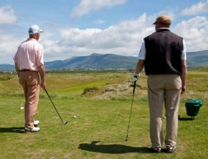 Social distancing on a Golf Course